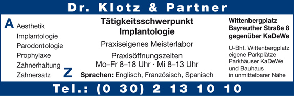 Bild 1 Klotz, Dr. & Partner in Berlin-Sch�neberg