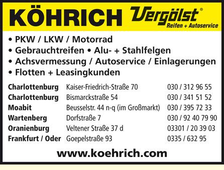 Bild 1 K�hrich Reifenhandel-Service GmbH in Berlin