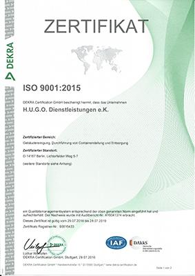 Bild 1 H.U.G.O. Dienstleistungen in Berlin