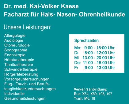 Bild 1 Kaese, Kai Volker, Dr. med. - HNO Praxis in Berlin