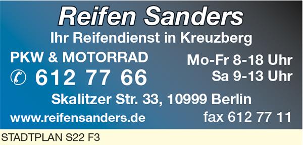 Bild 1 Autoreifen Sanders in Berlin
