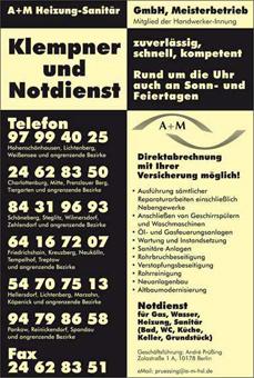Bild 1 A + M Heizung-Sanit�r GmbH in Berlin