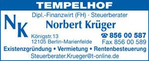 Bild 1 Kr�ger, Norbert, Dipl.FW in Berlin