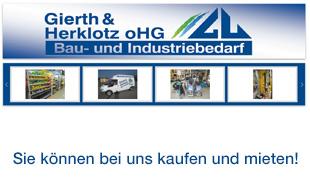 Gierth & Herklotz oHG Bau- und Industriebedarf - Verkauf und Vermietung