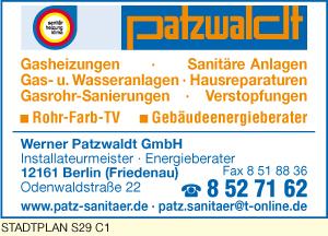Bild 1 Werner Patzwaldt GmbH in Berlin