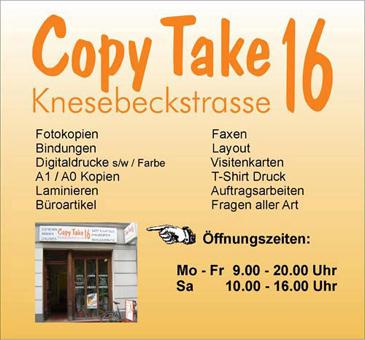 Bild 1 Copy Take 16 - Inh. Mario Radestock in Berlin