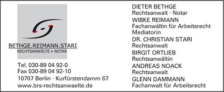 Bild 1 Bethge. Reimann. Stari in Berlin