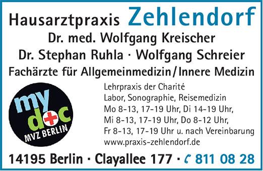 Bild 1 Kreischer, Wolfgang, Dr. med. und Kollegen in Berlin-Dahlem