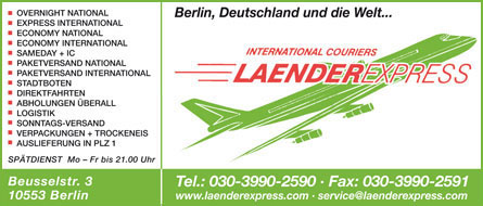 Bild 1 Laenderexpress Berlin LEB GmbH in Berlin