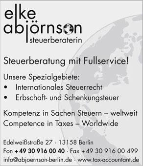 Bild 1 Abj�rnson, Elke - internatioales Steuerrecht in Berlin